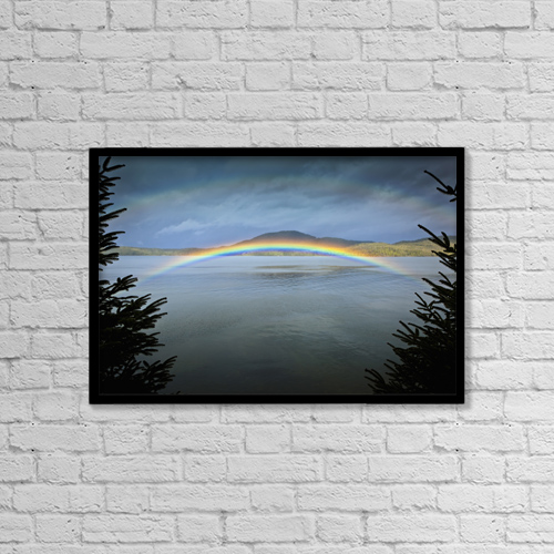 "Printscapes Wall Art: 18"" x 12"" Canvas Print With Black Frame - Scenic by Sunny Awazuhara- Reed"