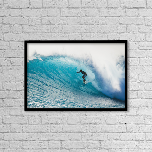 """Printscapes Wall Art: 18"""" x 12"""" Canvas Print With Black Frame - Sports and Recreation by MakenaStockMedia"""