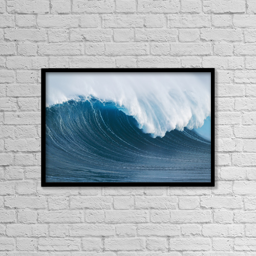 "Printscapes Wall Art: 18"" x 12"" Canvas Print With Black Frame - Travel by MakenaStockMedia"