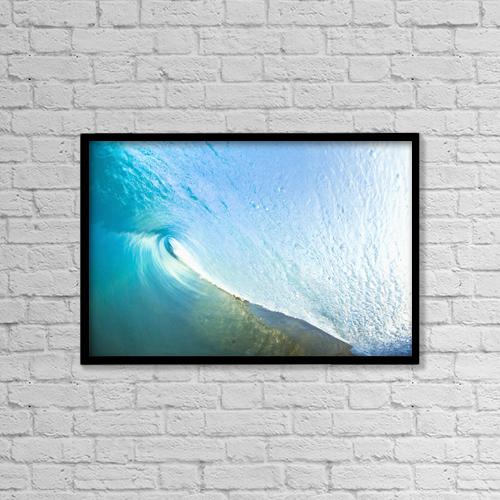 "Printscapes Wall Art: 18"" x 12"" Canvas Print With Black Frame - Travel by MakenaStockMedia"