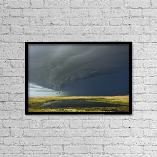 "Printscapes Wall Art: 18"" x 12"" Canvas Print With Black Frame - Weather by Robert Postma"