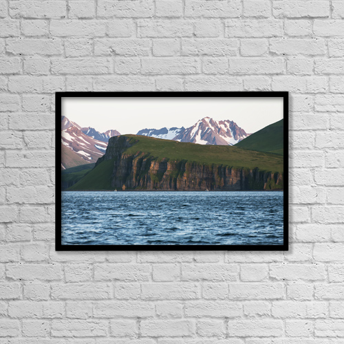 "Printscapes Wall Art: 18"" x 12"" Canvas Print With Black Frame - Scenic by Scott Dickerson"