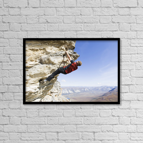"Printscapes Wall Art: 18"" x 12"" Canvas Print With Black Frame - Sports and Recreation by Scott Dickerson"