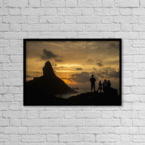 "Printscapes Wall Art: 18"" x 12"" Canvas Print With Black Frame - Scenic by Dosfotos"