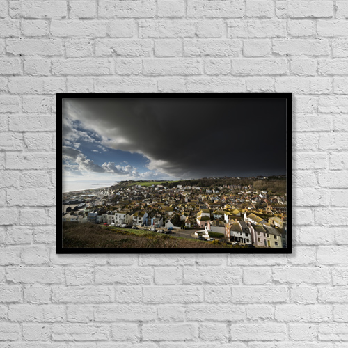 "Printscapes Wall Art: 18"" x 12"" Canvas Print With Black Frame - Transportation by Chris Parker"