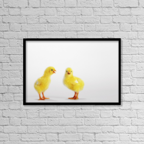 "Printscapes Wall Art: 18"" x 12"" Canvas Print With Black Frame - Animals by Thomas Kitchin & Victoria Hurst"