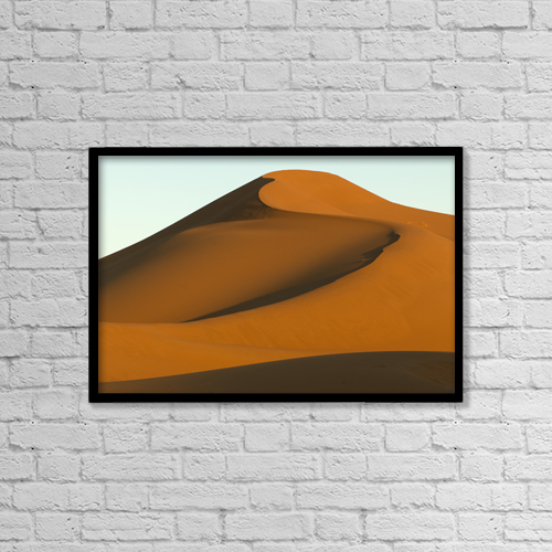 "Printscapes Wall Art: 18"" x 12"" Canvas Print With Black Frame - Smooth sand slopes by Keith Levit"