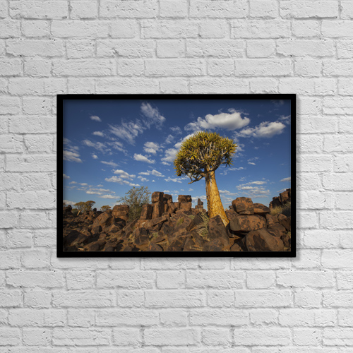 "Printscapes Wall Art: 18"" x 12"" Canvas Print With Black Frame - Scenic by Lars Froelich"