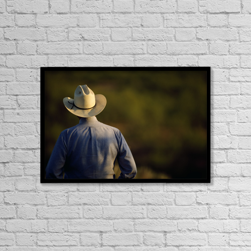 "Printscapes Wall Art: 18"" x 12"" Canvas Print With Black Frame - Agriculture by Russell Graves"