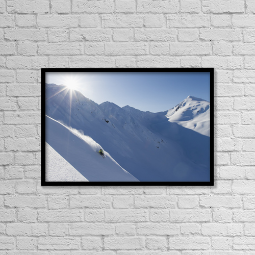 """Printscapes Wall Art: 18"""" x 12"""" Canvas Print With Black Frame - Lifestyle by Scott Dickerson"""