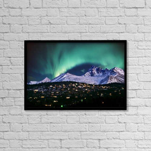 "Printscapes Wall Art: 18"" x 12"" Canvas Print With Black Frame - Scenic by Composite Image"