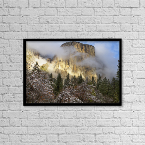 """Printscapes Wall Art: 18"""" x 12"""" Canvas Print With Black Frame - Weather by Tracy Barbutes"""