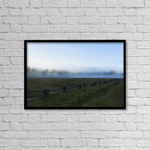"Printscapes Wall Art: 18"" x 12"" Canvas Print With Black Frame - Weather by Ronald Phillips"