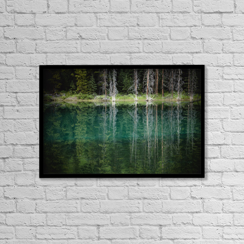 "Printscapes Wall Art: 18"" x 12"" Canvas Print With Black Frame - Nature by Joel Koop"
