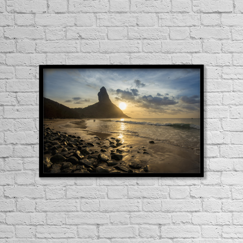 "Printscapes Wall Art: 18"" x 12"" Canvas Print With Black Frame - Travel by Dosfotos"