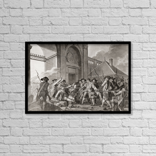 """Printscapes Wall Art: 18"""" x 12"""" Canvas Print With Black Frame - D by Ken Welsh"""
