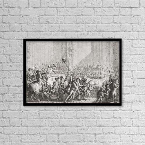 """Printscapes Wall Art: 18"""" x 12"""" Canvas Print With Black Frame - Louis B by Ken Welsh"""