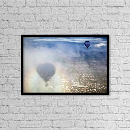 "Printscapes Wall Art: 18"" x 12"" Canvas Print With Black Frame - Bristol Balloon Fiesta by Doug McKinlay"