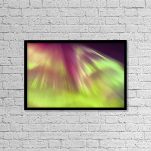 "Printscapes Wall Art: 18"" x 12"" Canvas Print With Black Frame - Weather by Kevin G. Smith"