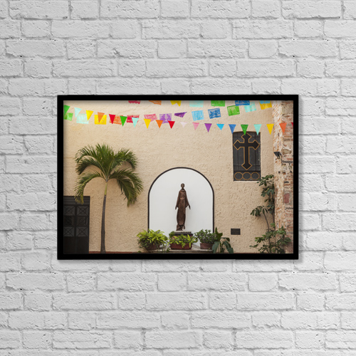 "Printscapes Wall Art: 18"" x 12"" Canvas Print With Black Frame - Christian Faith by Debra Brash"