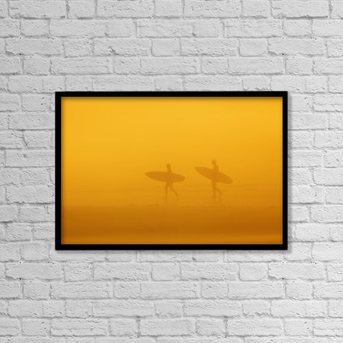 """Printscapes Wall Art: 18"""" x 12"""" Canvas Print With Black Frame - Lifestyle by Ken Gillespie"""