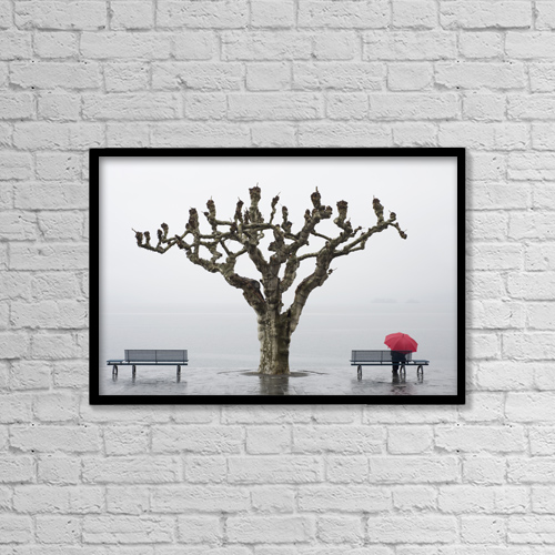"Printscapes Wall Art: 18"" x 12"" Canvas Print With Black Frame - Lifestyle by Mats Silvan"