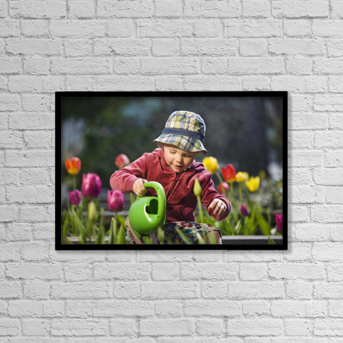 """Printscapes Wall Art: 18"""" x 12"""" Canvas Print With Black Frame - Lifestyle by Kevin G. Smith"""