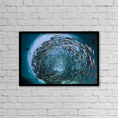 """Printscapes Wall Art: 18"""" x 12"""" Canvas Print With Black Frame - Creative Imagery by Dave Fleetham"""