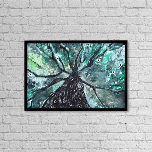 "Printscapes Wall Art: 18"" x 12"" Canvas Print With Black Frame - Nature by Tara Thelen"