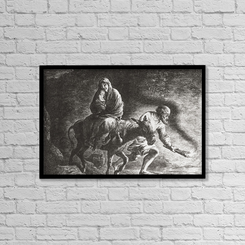 "Printscapes Wall Art: 18"" x 12"" Canvas Print With Black Frame - Christian Faith by Ken Welsh"