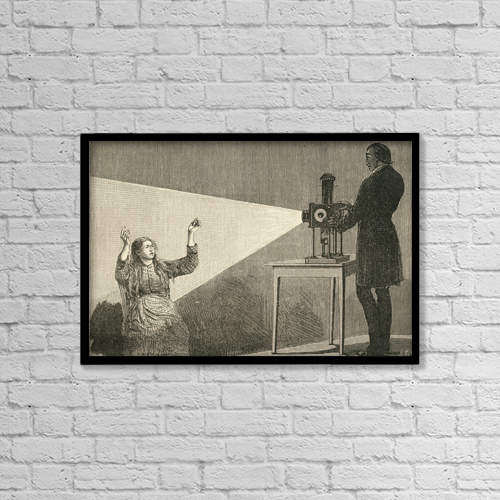 "Printscapes Wall Art: 18"" x 12"" Canvas Print With Black Frame - Catalepsy Produced By Electric Light by Ken Welsh"