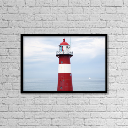 "Printscapes Wall Art: 18"" x 12"" Canvas Print With Black Frame - Nautical by Peter Zoeller"