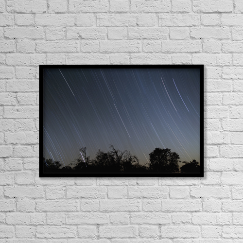"""Printscapes Wall Art: 18"""" x 12"""" Canvas Print With Black Frame - Astronomy by Charmian Vistaunet"""