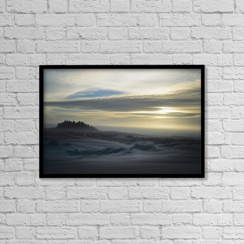 "Printscapes Wall Art: 18"" x 12"" Canvas Print With Black Frame - The Oregon Coast Has Many Moods by Robert L. Potts"