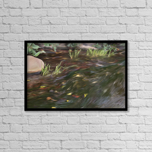 "Printscapes Wall Art: 18"" x 12"" Canvas Print With Black Frame - Artwork and Paintings by Angela A Stanton"