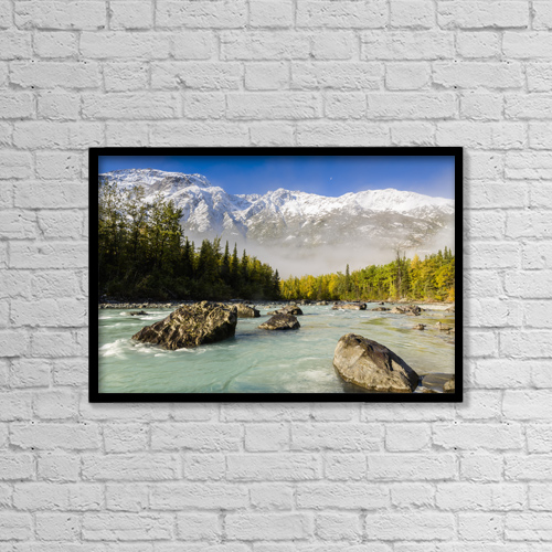"Printscapes Wall Art: 18"" x 12"" Canvas Print With Black Frame - Scenic by Ray Bulson"
