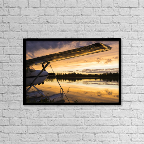 "Printscapes Wall Art: 18"" x 12"" Canvas Print With Black Frame - Transportation by Michael DeYoung"