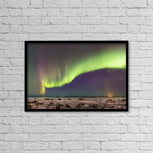 """Printscapes Wall Art: 18"""" x 12"""" Canvas Print With Black Frame - Astronomy by Kevin G. Smith"""