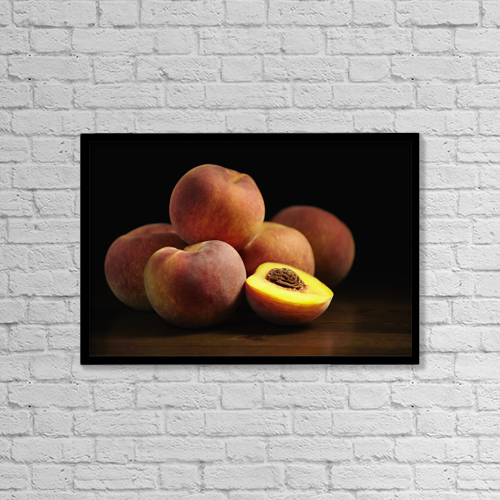 "Printscapes Wall Art: 18"" x 12"" Canvas Print With Black Frame - Food by Roderick Chen"