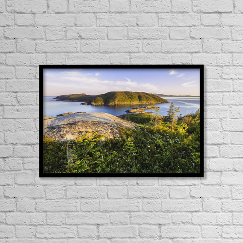 "Printscapes Wall Art: 18"" x 12"" Canvas Print With Black Frame - Pointe Sud At Sunset by Yves Marcoux"