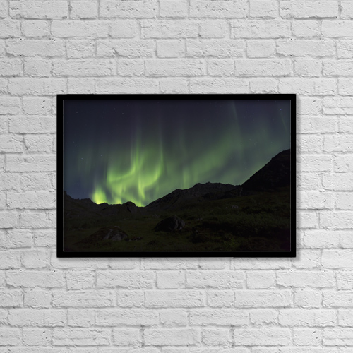 "Printscapes Wall Art: 18"" x 12"" Canvas Print With Black Frame - Astronomy by Lucas Payne"