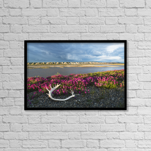 "Printscapes Wall Art: 18"" x 12"" Canvas Print With Black Frame - Scenic by Lucas Payne"