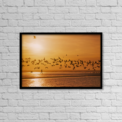 """Printscapes Wall Art: 18"""" x 12"""" Canvas Print With Black Frame - Lifestyle by Robert L. Potts"""