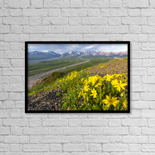 """Printscapes Wall Art: 18"""" x 12"""" Canvas Print With Black Frame - Creative Imagery by Lynn Wegener"""