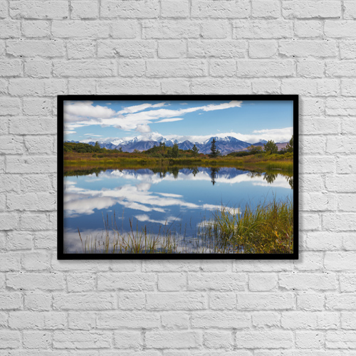 "Printscapes Wall Art: 18"" x 12"" Canvas Print With Black Frame - Creative Imagery by Lynn Wegener"