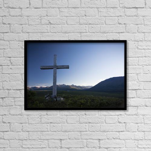 "Printscapes Wall Art: 18"" x 12"" Canvas Print With Black Frame - Christian Faith by Jeff Schultz"