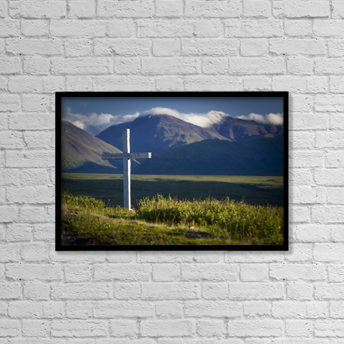 "Printscapes Wall Art: 18"" x 12"" Canvas Print With Black Frame - Christian Faith by Jeff Schultz"