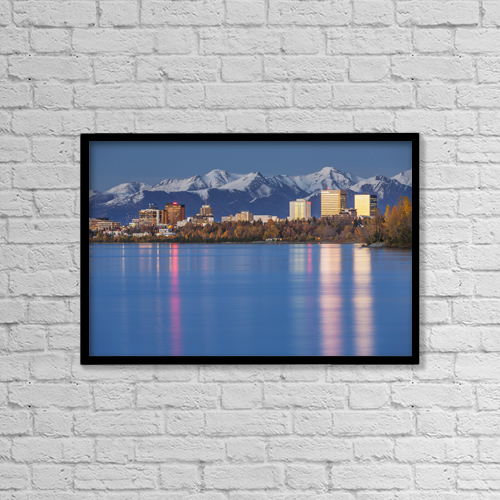 "Printscapes Wall Art: 18"" x 12"" Canvas Print With Black Frame - Travel by Kevin G. Smith"