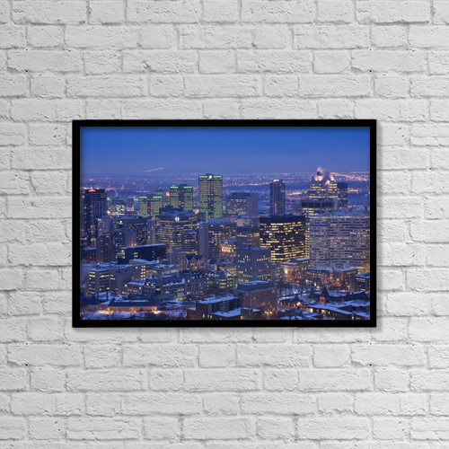 """Printscapes Wall Art: 18"""" x 12"""" Canvas Print With Black Frame - Architectural Exteriors by Perry Mastrovito"""