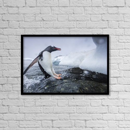 "Printscapes Wall Art: 18"" x 12"" Canvas Print With Black Frame - Creative Imagery by Paul Souders"
